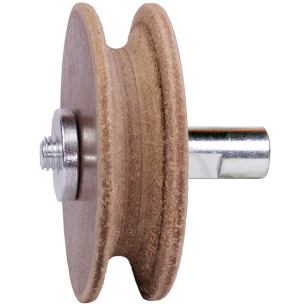 WorkMan 708028. Профилированный кожаный круг для полировальных станков