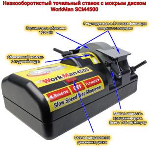 Точильний станок для ножів WorkMan SCM4500