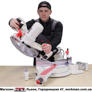 Торцовочно-усовочная пила JET JSMS-12L
